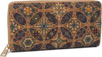 styleBREAKER Damen Geldbörse aus Kork mit buntem Muster Print im Ethno Look, Reißverschluss, Portemonnaie 02040138 – Bild 23