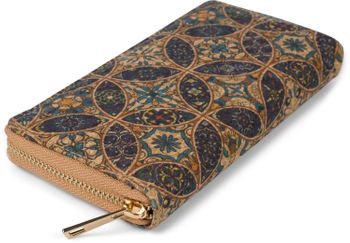 styleBREAKER Damen Geldbörse aus Kork mit buntem Muster Print im Ethno Look, Reißverschluss, Portemonnaie 02040138 – Bild 24