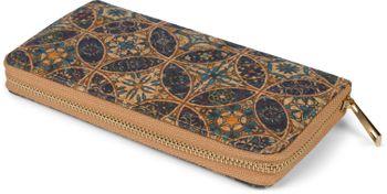styleBREAKER Damen Geldbörse aus Kork mit buntem Muster Print im Ethno Look, Reißverschluss, Portemonnaie 02040138 – Bild 25