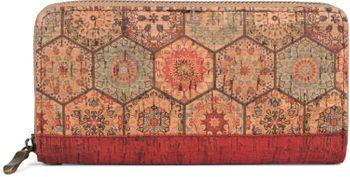 styleBREAKER Damen Geldbörse aus Kork mit buntem Muster Print im Ethno Look, Reißverschluss, Portemonnaie 02040138 – Bild 3