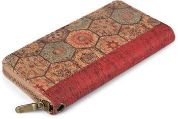 styleBREAKER Damen Geldbörse aus Kork mit buntem Muster Print im Ethno Look, Reißverschluss, Portemonnaie 02040138 – Bild 4