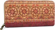 styleBREAKER Damen Geldbörse aus Kork mit buntem Muster Print im Ethno Look, Reißverschluss, Portemonnaie 02040138 – Bild 84