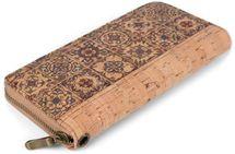 styleBREAKER Damen Geldbörse aus Kork mit buntem Muster Print im Ethno Look, Reißverschluss, Portemonnaie 02040138 – Bild 6