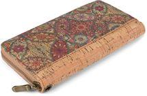 styleBREAKER Damen Geldbörse aus Kork mit buntem Muster Print im Ethno Look, Reißverschluss, Portemonnaie 02040138 – Bild 8
