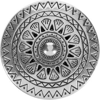 styleBREAKER Damen Magnet Schmuck Brosche rund mit gezacktem Azteken Muster, für Schals, Tücher, Ponchos, Anhänger 05050090 – Bild 2