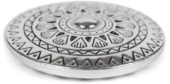 styleBREAKER Damen Magnet Schmuck Brosche rund mit gezacktem Azteken Muster, für Schals, Tücher, Ponchos, Anhänger 05050090 – Bild 6