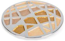 styleBREAKER Damen Magnet Schmuck Brosche rund mit matt schimmerndem Netz Muster für Schals, Tücher, Ponchos, Anhänger 05050091 – Bild 17
