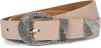 styleBREAKER Damen Gürtel Unifarben mit Strass verzierter Schließe, kürzbar 03010107 – Bild 16