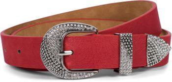 styleBREAKER Damen Gürtel Unifarben mit Strass verzierter Schließe, kürzbar 03010107 – Bild 8