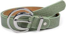 styleBREAKER Damen Gürtel Unifarben mit Oberfläche in Krokodilleder Optik und Halbmond förmiger Schließe, kürzbar 03010108 – Bild 10