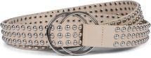 styleBREAKER Damen Taillengürtel mit Kugelnieten und Ringschnalle, Einheitsgröße / Onesize, Vintage Style, Nietengürtel 03010111 – Bild 10