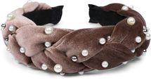 styleBREAKER Damen Haarreif in Samt Optik geflochten mit Perlen, Retro Style Haarband, Headband 04027010 – Bild 11