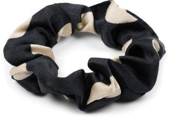 styleBREAKER Damen XL Haargummi Polka Dots Punkte Muster mit Schleife im Retro Style, elastisch, Scrunchie, Zopfgummi, Haarband 04027013 – Bild 3