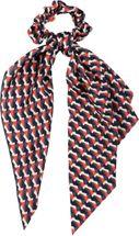 styleBREAKER Damen Haargummi mit Retro Muster und Schleife, elastisch, Scrunchie, Zopfgummi, Dreiecktuch, Haarband 04027015 – Bild 1