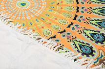 styleBREAKER rechteckiges Strandtuch mit buntem Mandala Motiv Print im Ethno Style, Fransen Borte, Handtuch, Badetuch, Unisex 05050093 – Bild 3