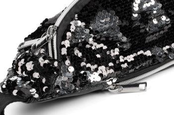 styleBREAKER Damen Bauchtasche mit Wende-Pailletten, verstellbarer Gurt, Gürteltasche, Hüfttasche 02012322 – Bild 18