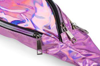 styleBREAKER Damen Bauchtasche in irisierender Metallic Optik, verstellbarer Gurt, Gürteltasche, Hüfttasche 02012323 – Bild 9