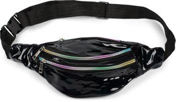 styleBREAKER Damen Bauchtasche in irisierender Metallic Optik, verstellbarer Gurt, Gürteltasche, Hüfttasche 02012323 – Bild 1