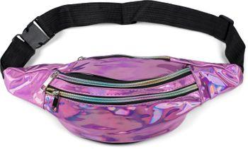 styleBREAKER Damen Bauchtasche in irisierender Metallic Optik, verstellbarer Gurt, Gürteltasche, Hüfttasche 02012323 – Bild 7