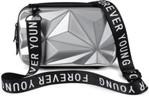 styleBREAKER Damen Multifunktion Umhängetasche 3-D Prisma Oberfläche mit Reißverschluss, Crossbody Bag, Case 02012324 – Bild 10