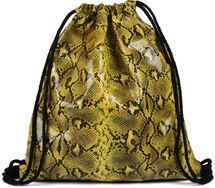 styleBREAKER Damen Turnbeutel mit Oberfläche in Python Schlange Optik, Rucksack, Sportbeutel, Beutel 02012336 – Bild 1
