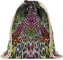 styleBREAKER Damen Turnbeutel mit tropischem Dschungel Leo Print im Boho Style, Rucksack, Sportbeutel, Beutel 02012338 – Bild 1