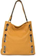 styleBREAKER Damen Hobo Bag Handtasche mit Ketten Applikation, Shopper, Schultertasche, Tasche 02012339 – Bild 16