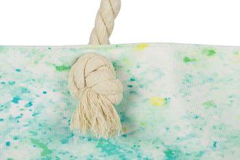styleBREAKER Damen XXL Strandtasche mit buntem Pouring Flecken Print, Reißverschluss, Schultertasche, Shopper 02012345 – Bild 4