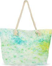 styleBREAKER Damen XXL Strandtasche mit buntem Pouring Flecken Print, Reißverschluss, Schultertasche, Shopper 02012345 – Bild 1