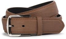 styleBREAKER embossed snake leather look belt with genuine leather, shortened 03010037 – Bild 2
