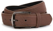 styleBREAKER embossed snake leather look belt with genuine leather, shortened 03010037 – Bild 4
