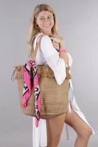 styleBREAKER Damen Korb Flecht Schultertasche, Strandtasche mit langen Henkeln, Flechttasche, Reißverschluss, Shopper 02012348 – Bild 7