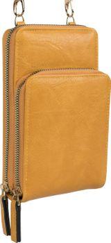 styleBREAKER Damen Mini Bag Umhängetasche mit 2 Reißverschlüssen, Handytasche, Geldbörse, Schultertasche, Handtasche 02012349 – Bild 18
