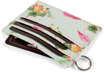 styleBREAKER Damen Kartenetui mit buntem Flamingo Tropic Muster, Portemonnaie, kompaktes Kreditkarten Etui 02040139 – Bild 5