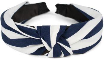 styleBREAKER Damen Haarreif mit Streifen Muster und Knoten im Retro Style, Vintage Look, Haarband, Headband 04027016 – Bild 2