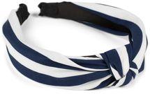 styleBREAKER Damen Haarreif mit Streifen Muster und Knoten im Retro Style, Vintage Look, Haarband, Headband 04027016 – Bild 1