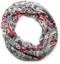 styleBREAKER Union Jack loop tube scarf in newspaper printing, newspaper style, light and silky 01016078 – Bild 1