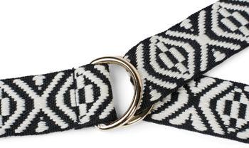styleBREAKER Damen Stoff Gürtel mit Azteken Ornament Muster und D-Ringen, Einheitsgröße / Onesize, Taillengürtel 03010113 – Bild 4