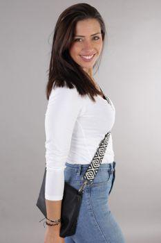 styleBREAKER Taschen Schulterriemen mit Azteken Muster, Wechsel Taschengurt mit Karabinerhaken, verstellbar, Unisex 02013015 – Bild 5