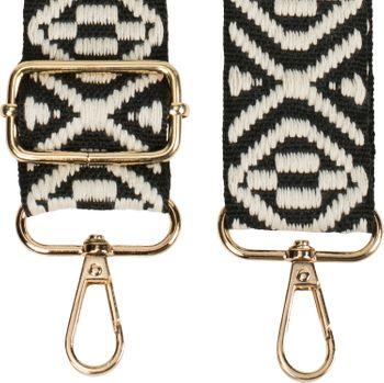 styleBREAKER Taschen Schulterriemen mit Azteken Muster, Wechsel Taschengurt mit Karabinerhaken, verstellbar, Unisex 02013015 – Bild 2