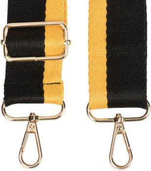 styleBREAKER Taschen Schulterriemen gestreift, Wechsel Taschengurt mit Karabinerhaken, verstellbar, Unisex 02013016 – Bild 2