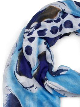 styleBREAKER Damen Schal mit abstraktem Punkte und Tupfen Muster Print, Stola, Halstuch, Tuch 01016199 – Bild 11