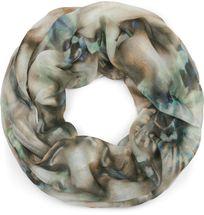styleBREAKER Damen Leichter Loop Schal mit Aquarell Batik Blüten Muster, Schlauchschal, Tuch 01016200 – Bild 13
