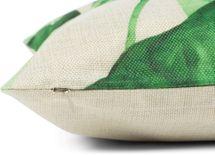 styleBREAKER Deko Kissenhülle 40 x 40 cm mit Tropic Blätter Muster Print und Reißverschluss, Dekokissen, Zierkissen 07010005 – Bild 4