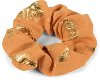 styleBREAKER Damen XXL Haargummi mit edlem metallic Feder Print, elastisch, Scrunchie, Zopfgummi, Haarband 04027020 – Bild 16