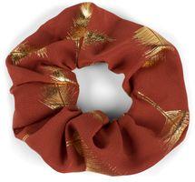 styleBREAKER Damen XXL Haargummi mit edlem metallic Feder Print, elastisch, Scrunchie, Zopfgummi, Haarband 04027020 – Bild 9