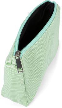 styleBREAKER Damen Beautybag Krokodil Optik Oberfläche, Kosmetiktasche, Make Up Bag, Taschen Organizer 02013018 – Bild 3