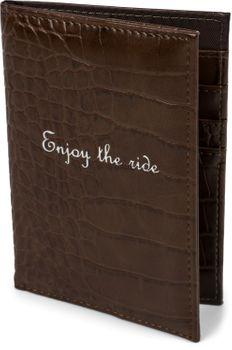 styleBREAKER Reisepasshülle in Krokodil Optik mit 'Enjoy the ride' Print, Reisepassetui, Passhülle, Kartenetui 02013019 – Bild 11
