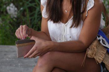 styleBREAKER Damen Kartenetui Materialmix Metallic Glitzer glänzend 3-Farbig, Portemonnaie, Mini Geldbörse, Reißverschluss 02040141