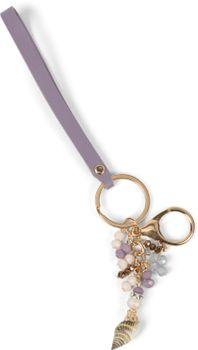 styleBREAKER Damen Schlüsselanhänger mit Muschel, Perlen und Strass, Taschen Anhänger, Karabiner, Befestigungsring 05050095 – Bild 9